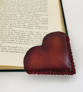 "I ""Heart"" Books Leather Bookmark"