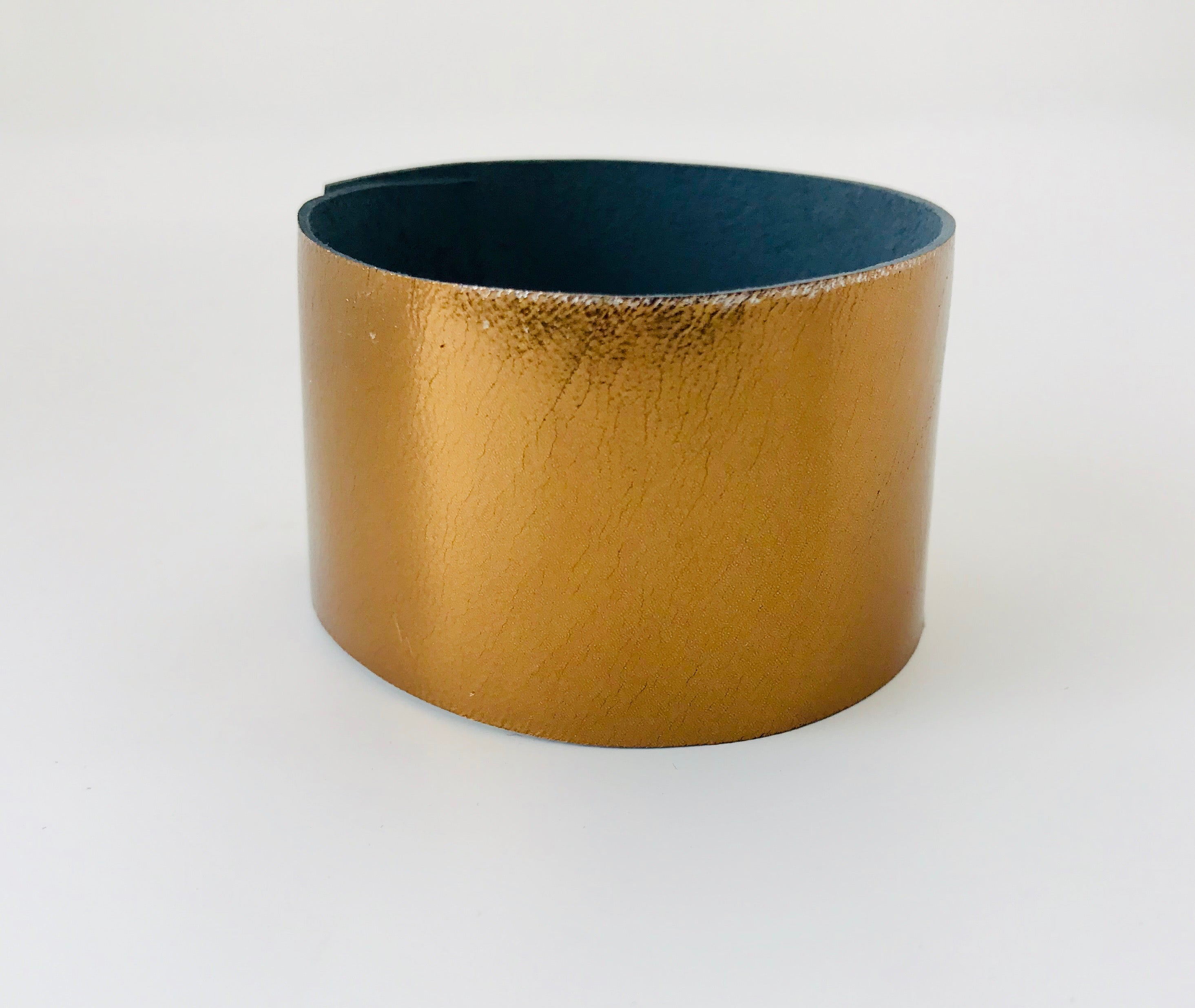 Gilded Dawn Leather Cuff