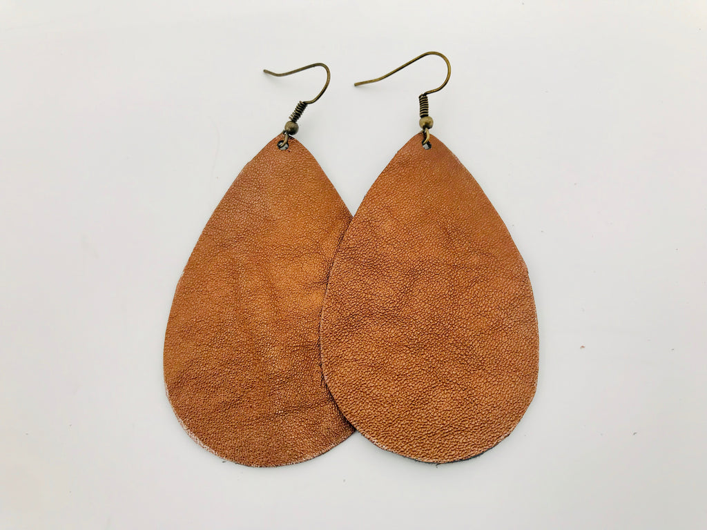 Opus Bronze Leather Earrings