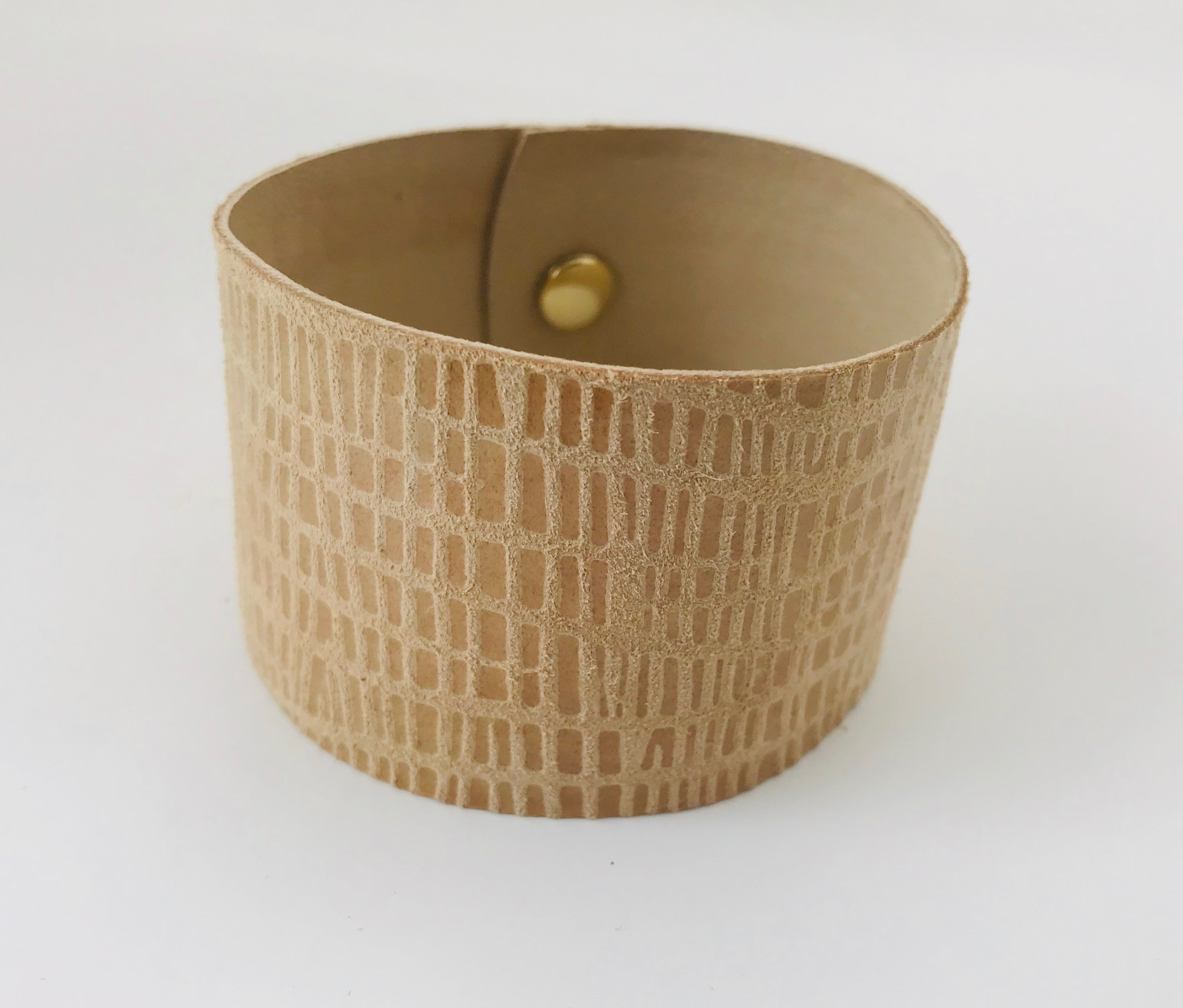 Summer Honeycomb Leather Cuff