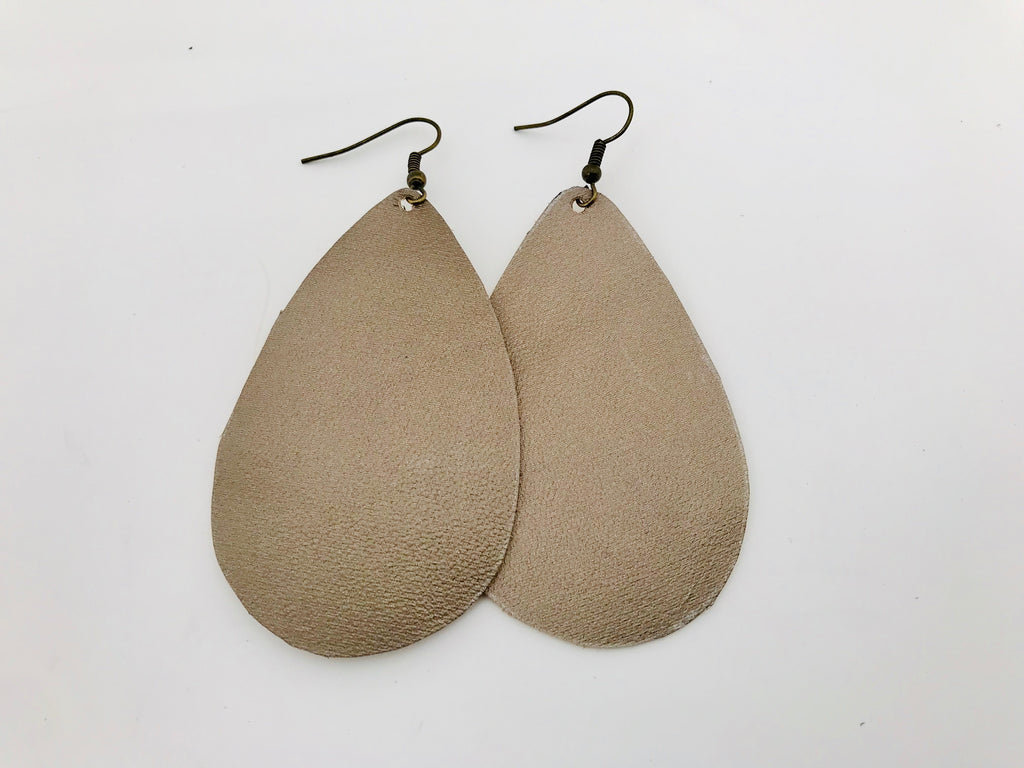 Ethereal Mist Leather Earrings