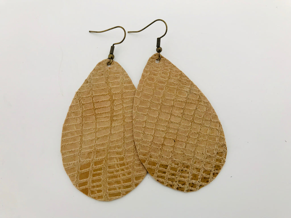 Summer Honeycomb Leather Earrings