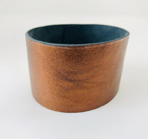 Opus Bronze Leather Cuff