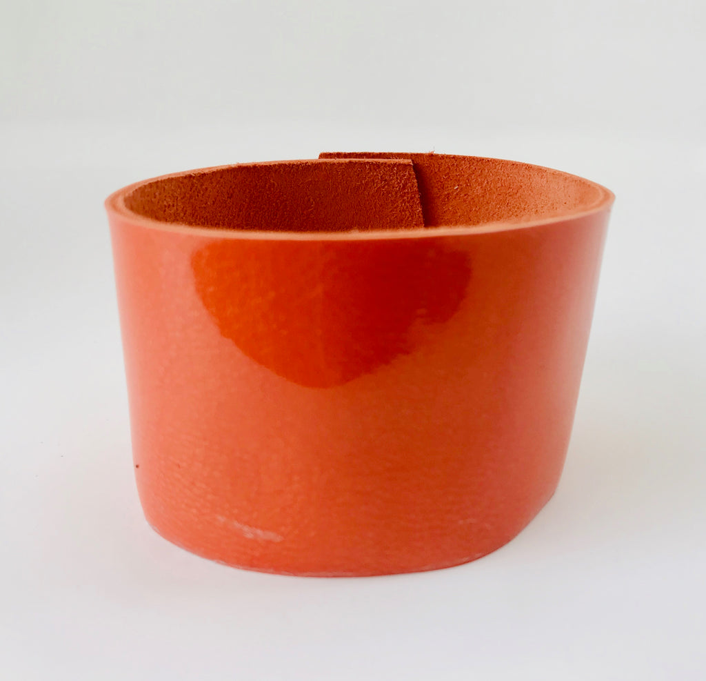 Tangerine Tryst Leather Cuff