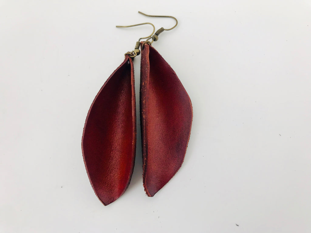 Wyoming Autumn Leather Earrings