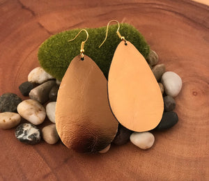 Gilded Dawn Leather Earrings
