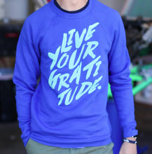Load image into Gallery viewer, #LiveYour Gratitude Unisex Sponge Fleece Sweatshirt