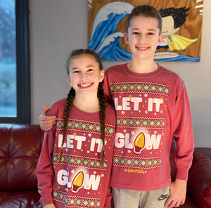 Let It Glow Youth  Long Sleeve Tee