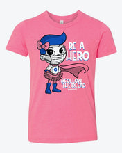Load image into Gallery viewer, Be a Hero Pink Youth Tee