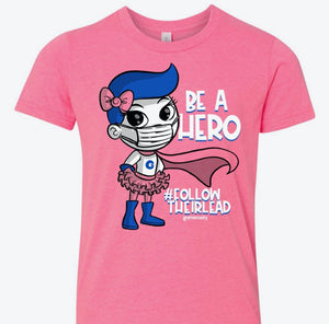 Be a Hero Pink Ladies Tee