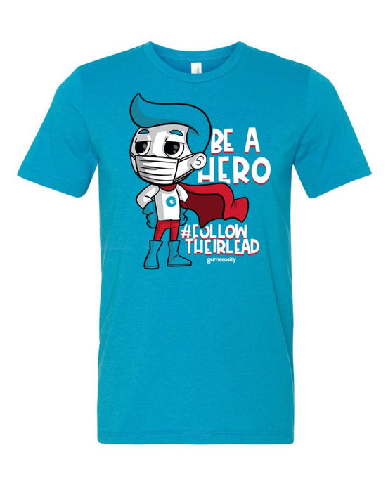 Be a Hero Blue Unisex Tee