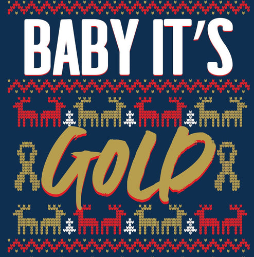 Baby It's Gold Outside Unisex Navy Sweater