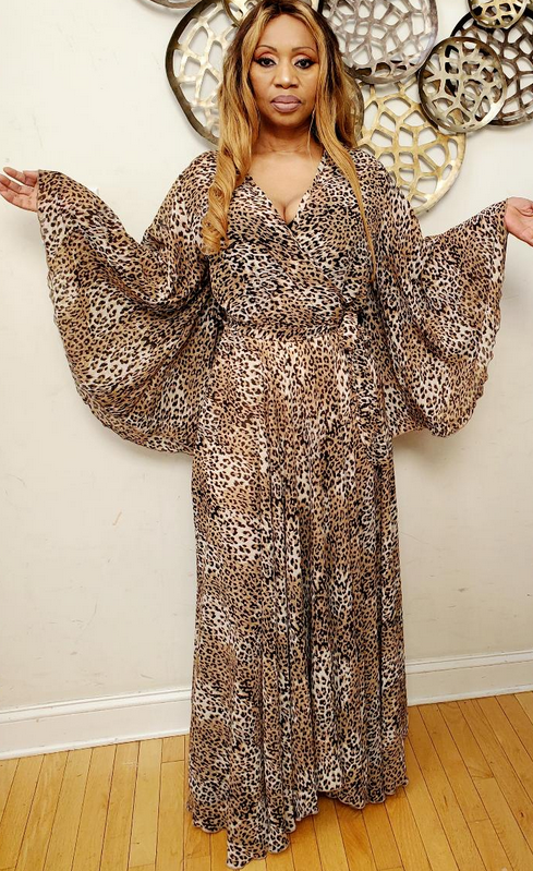 Zoe Leopard Printed maxi Dress