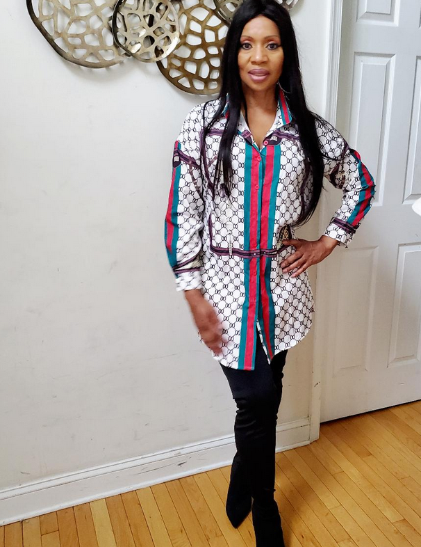 Queen Multi Color Shirt Dress