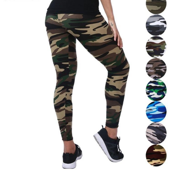 Multi Color And Camouflage Fitness Leggings