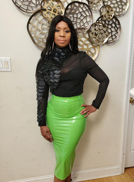 Lolly Latex Pencil Skirt