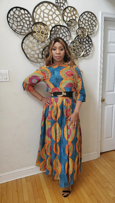 Bola African Print Two Piece Maxi Skirt Set