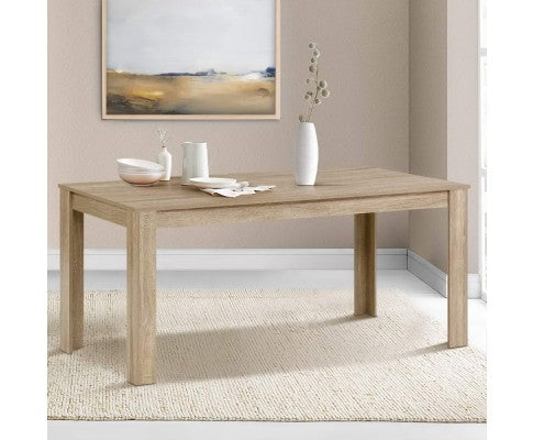 Artiss Dining Table 6-8 Seater Wooden Oak 160cm