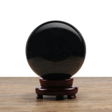 Feng Shui Obsidian Globe on Base