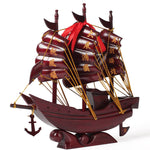 Feng Shui  Achiote Wood Dragon Wealth Boat