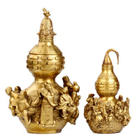 Feng Shui Brass Wu Lou with Eight Immortals