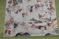 Feng Shui Hundred Children Silk Paper Scroll Chinese Painting