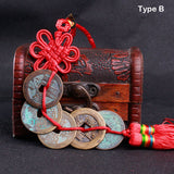 Feng Shui Five Chinese Coins Tassel