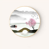 Chinese Landscape Painting with Wood Frame