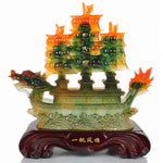Feng Shui Resin Dragon Boat