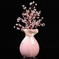 Feng Shui Pink Crystal Tree