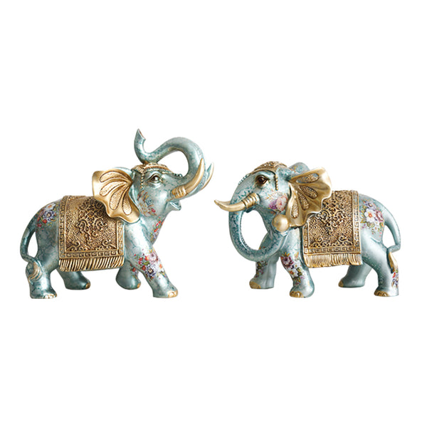 Feng Shui Pair of  Resin Elephant