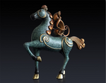 Feng Shui  Brass Monkey on the Horse