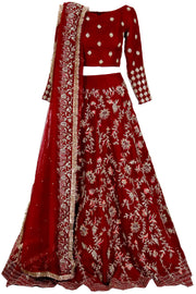 DEEP RED WEDDING DRESS