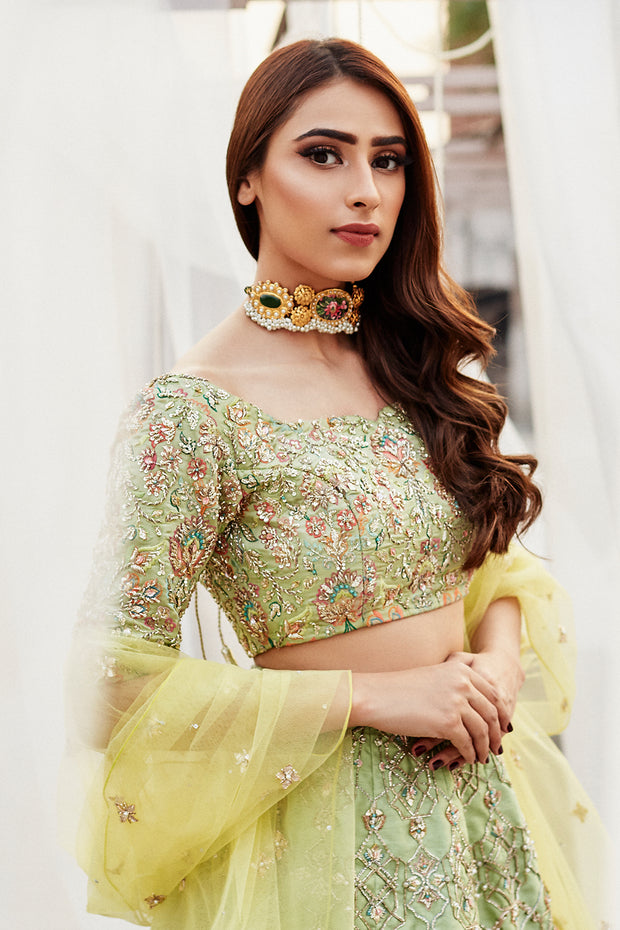 MINT GREEN LEHNGA CHOLI