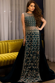 GREEN HEAVY DUPATTA DRESS
