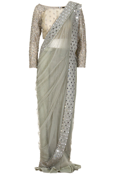 LIGHT LIME EMBELLISHED SARI