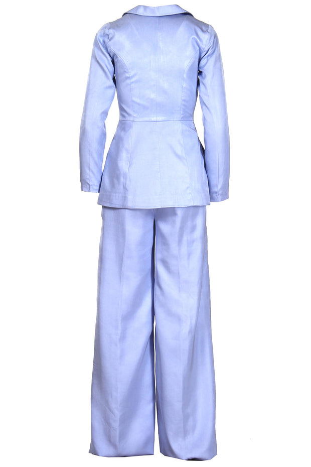 PASTEL BLUE SILK SUIT