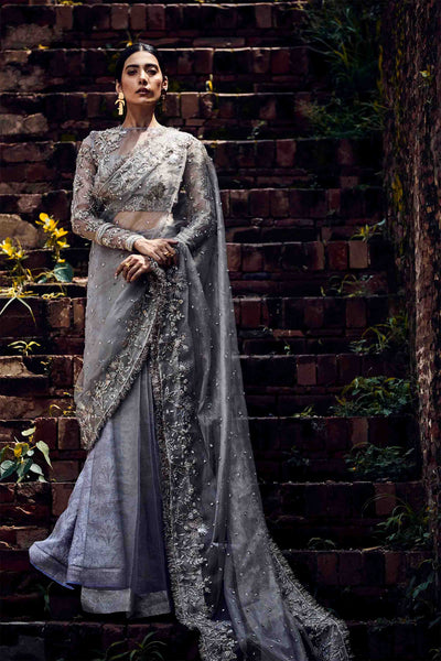 STEEL LAVENDER GREY SARI