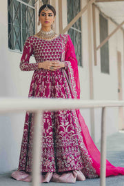 FUSCHIA WEDDING DRESS