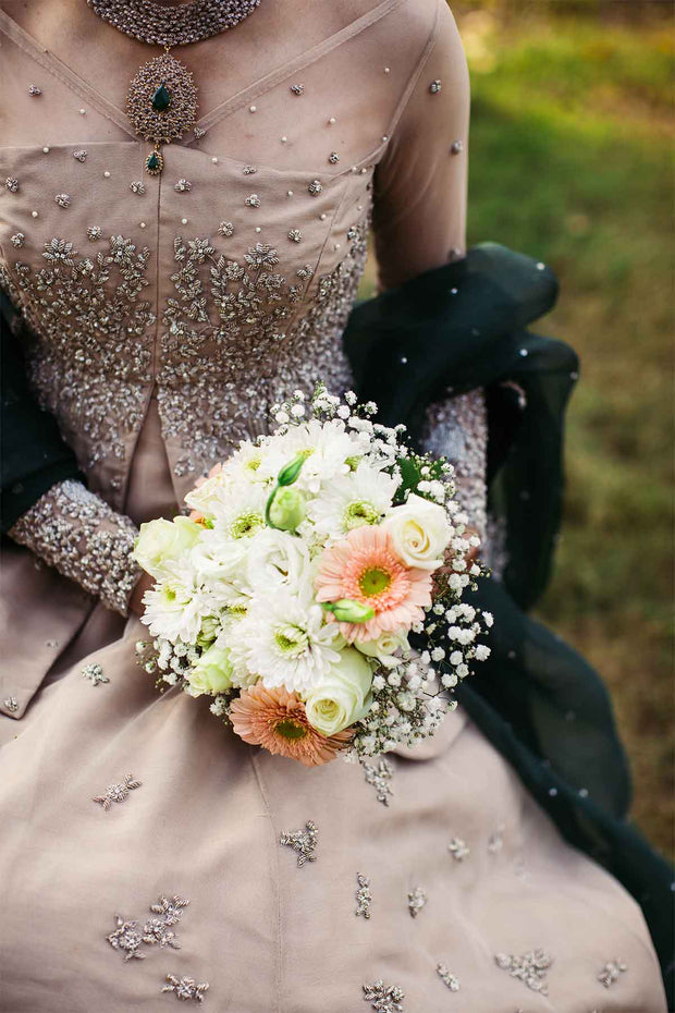 GOLD ROSE WEDDING DRESS