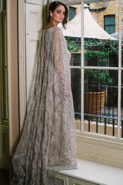 FLOOR LENGTH CAPE DRESS