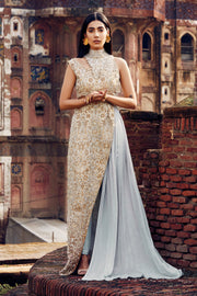 ROYAL GOLD EMBELLISHED DRESS