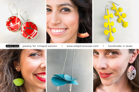 adaptive reuse jewelry for intrepid women upcycled tin jewelry