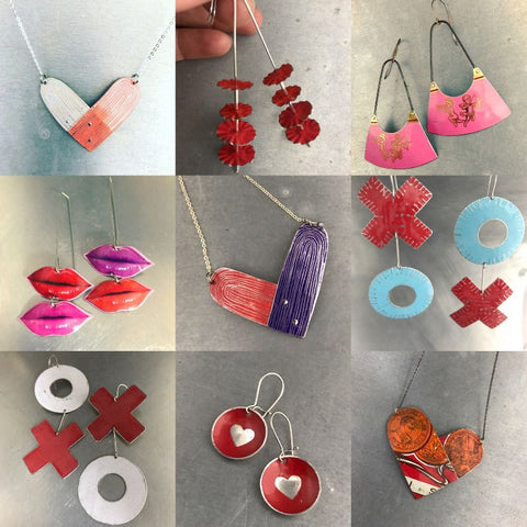 upcycled tin valentines day jewelry by christine terrell for adaptive reuse jewelry
