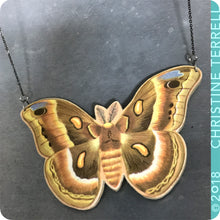 Load image into Gallery viewer, Luna Moth Upcycled Book Cover Necklace