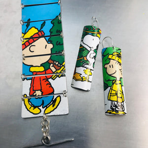 Charlie Brown Upcycled Tin Bracelet