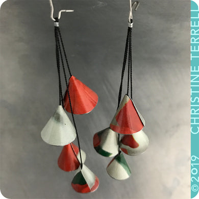 Gypsy Stlye Upcycled Tin Earrings by Christine Terrell for adaptive reuse jewelry