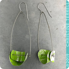Load image into Gallery viewer, Upcycled Tin Earrings by Christine Terrell for adaptive reuse jewelry