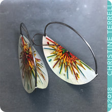 Load image into Gallery viewer, Festive Holiday Half Moon Saddle Zero Waste Tin Earrings
