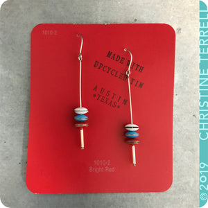 Scarlet, Sky & Snow Tiny Macarons Tin Earrings